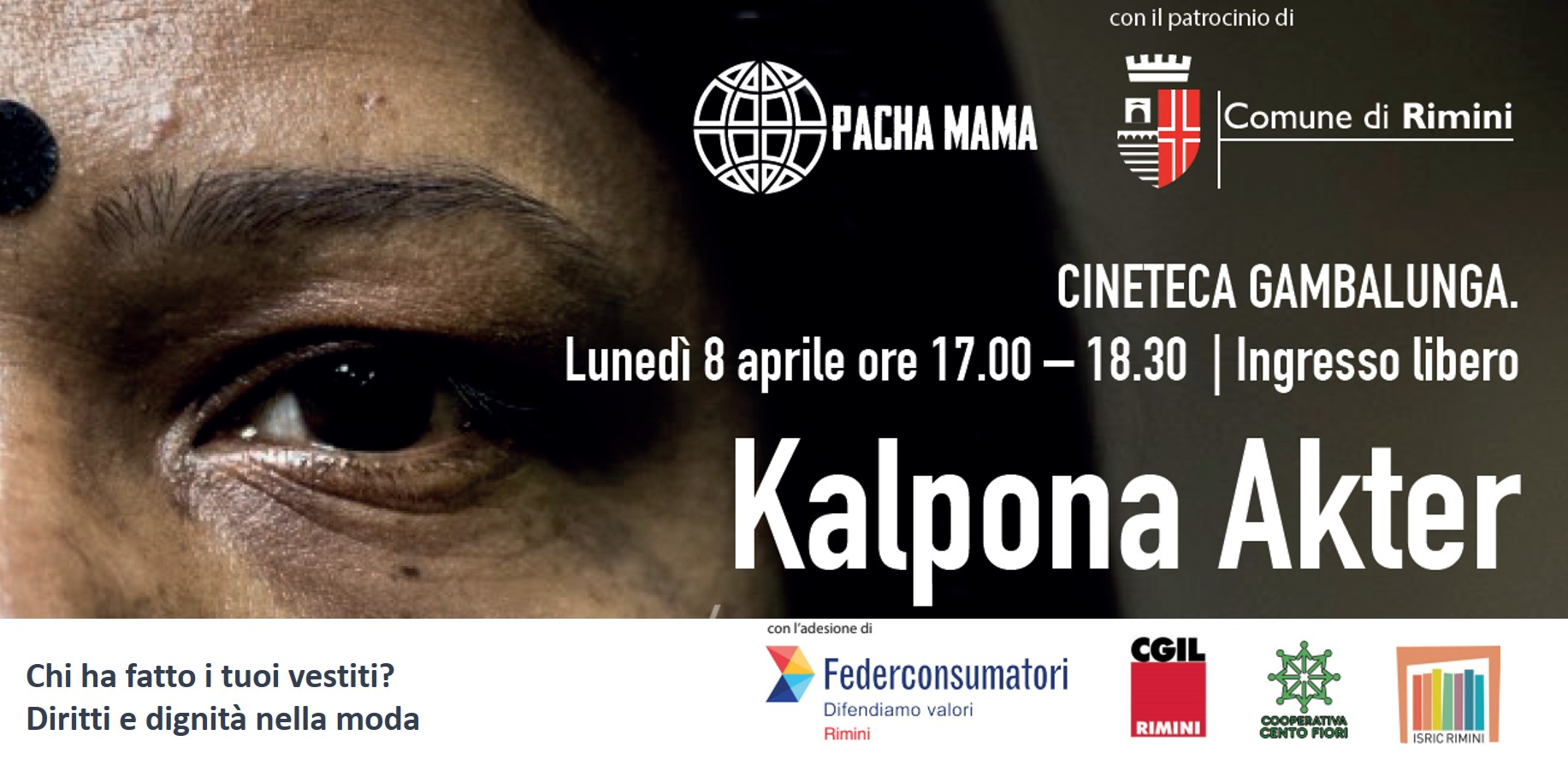 Evento Kalpona Akter Diritti e Dignità nella moda